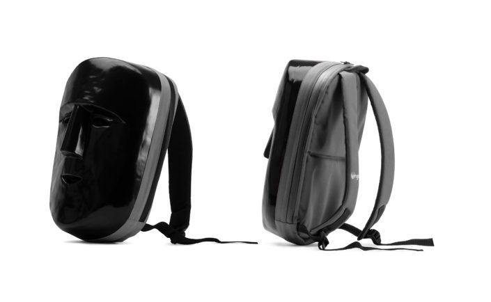 Product: backpack by Jan Holeček; Photo and postproduction: Michal Kozák Black mask bag